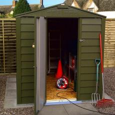 FREE WORKBENCH AND SHELVING With TriMetals Premium Sheds