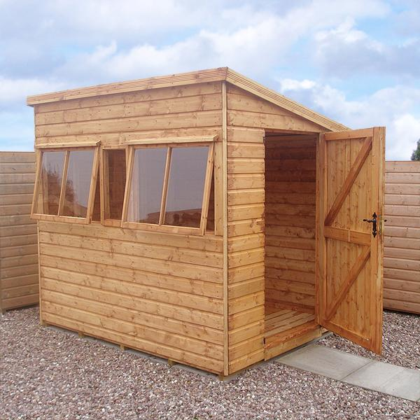 malvern heavy duty pent shed. Black Bedroom Furniture Sets. Home Design Ideas