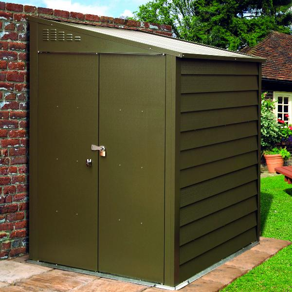 Trimetals premium pent shed for Garden shed security