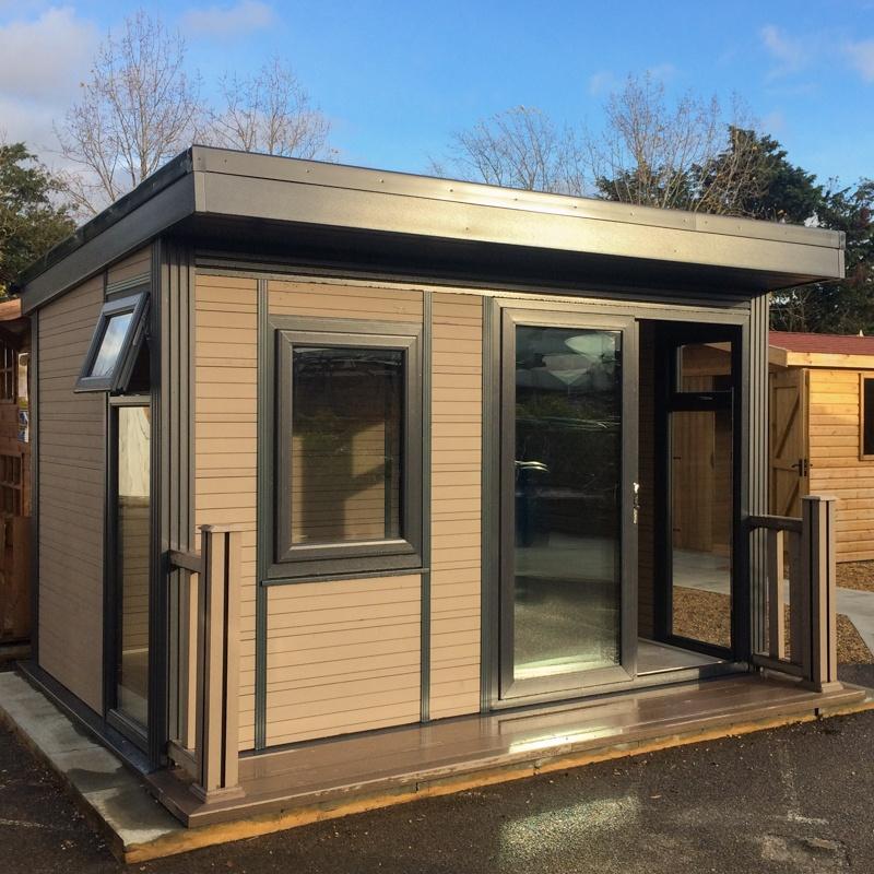Composite wood medlock cabin for Insulated garden buildings