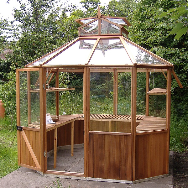 Pin greenhouses double pitch residential greenhouse on for Octagonal greenhouse plans