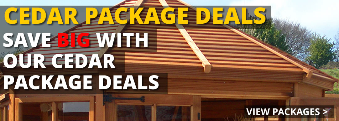 Save BIG with our cedar package deals