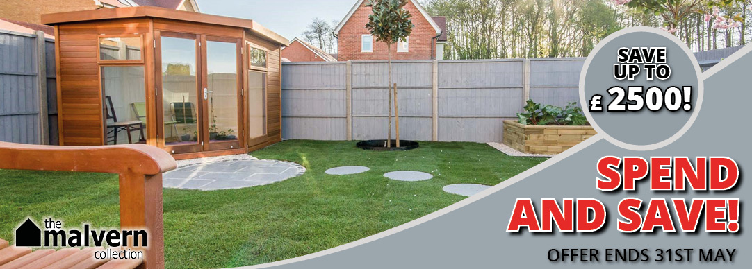Save up to £2500 on Malvern Garden Buildings!