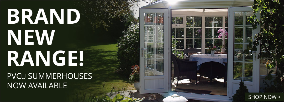 New PVCu Summerhouses Now Available
