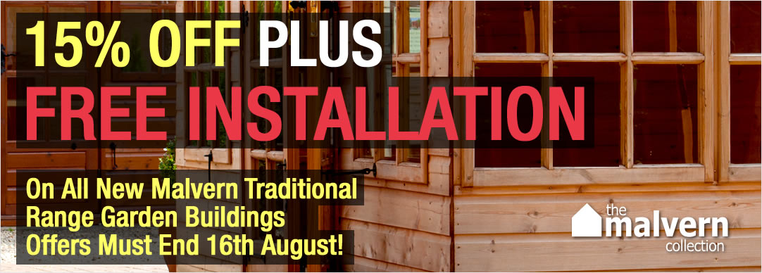 Save up to 15% PLUS FREE INSTALLATION - Offer ends 16th August 2015!!!