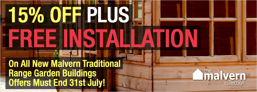 Save up to 15% PLUS FREE INSTALLATION - Offer ends 31st July 2015!!!