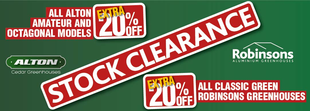 Huge Stock Clearance - Alton & Robinsons