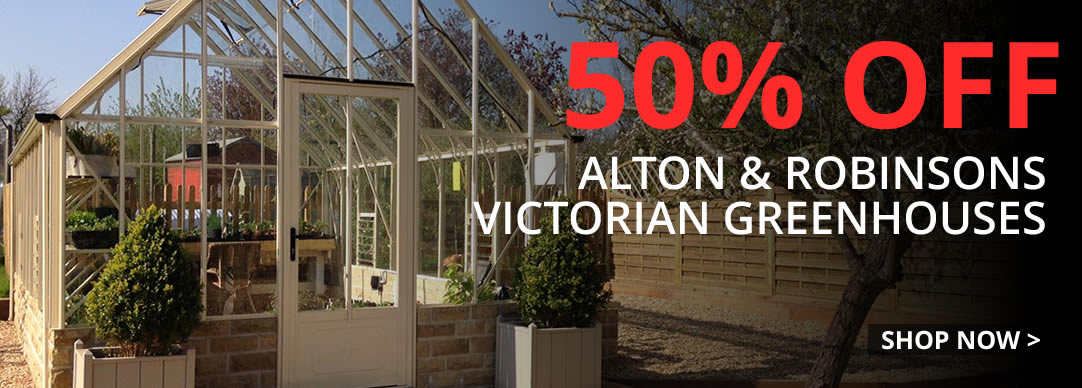 50% Off Alton and Robinsons Victorian Greenhouses