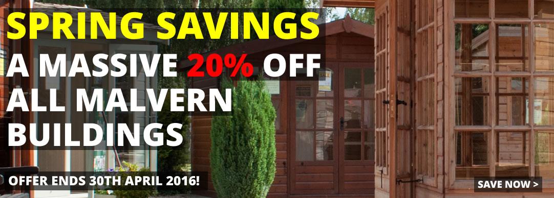 20% OFF all Malvern buildings