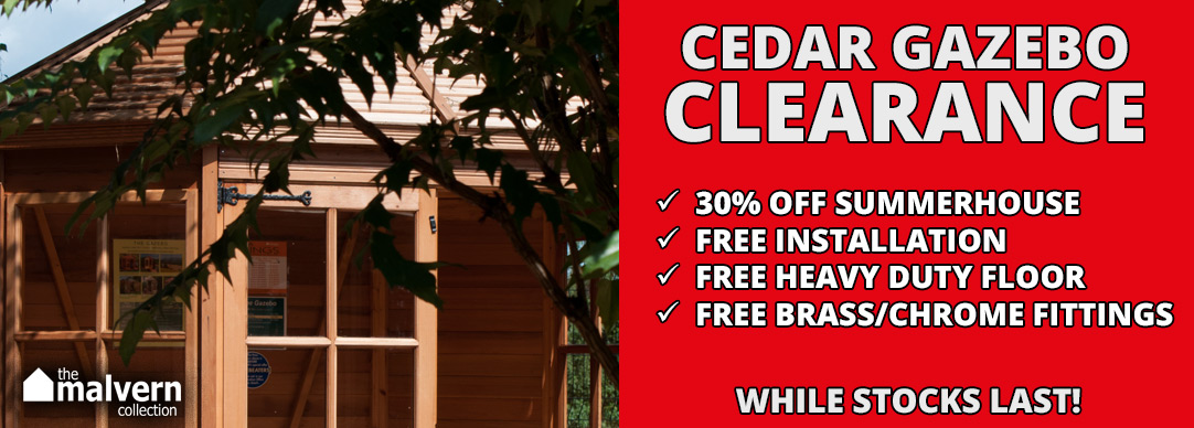 Malvern Cedar Gazebo *STOCK CLEARANCE*