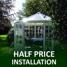 HALF PRICE Installation on PVCu Summerhouses