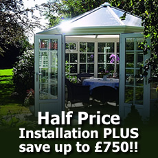 HALF PRICE Installation PLUS Save up to �750 on PVCu buildings
