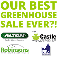 GREENHOUSE PRICE DROP 4 ranges - HUGE savings!
