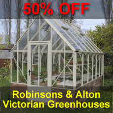 50% OFF VICTORIAN GREENHOUSES Alton & Robinsons Range