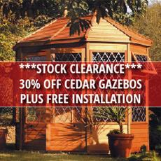 STOCK CLEARANCE Malvern Cedar Gazebo