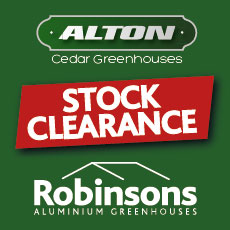 MASSIVE STOCK CLEARANCE Alton & Robinsons Greenhouses