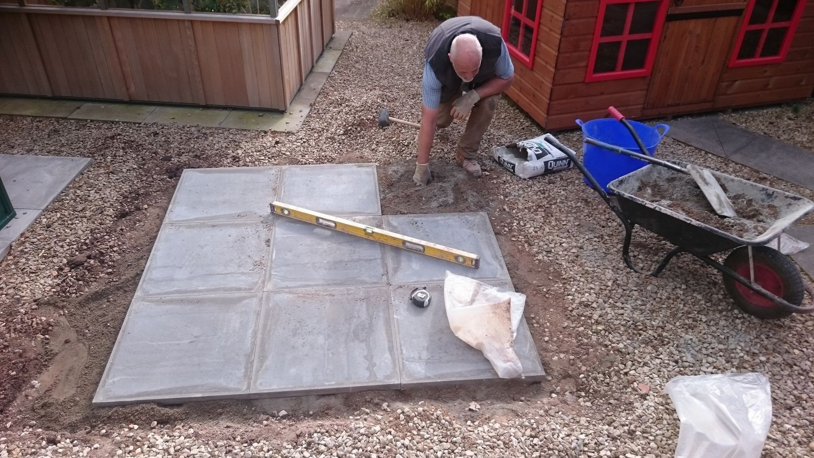 shed base area being completed