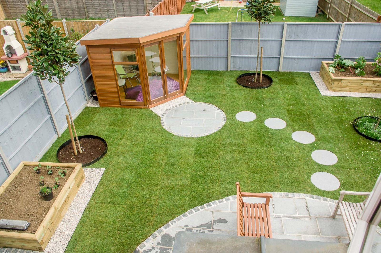 Landscaped customer garden