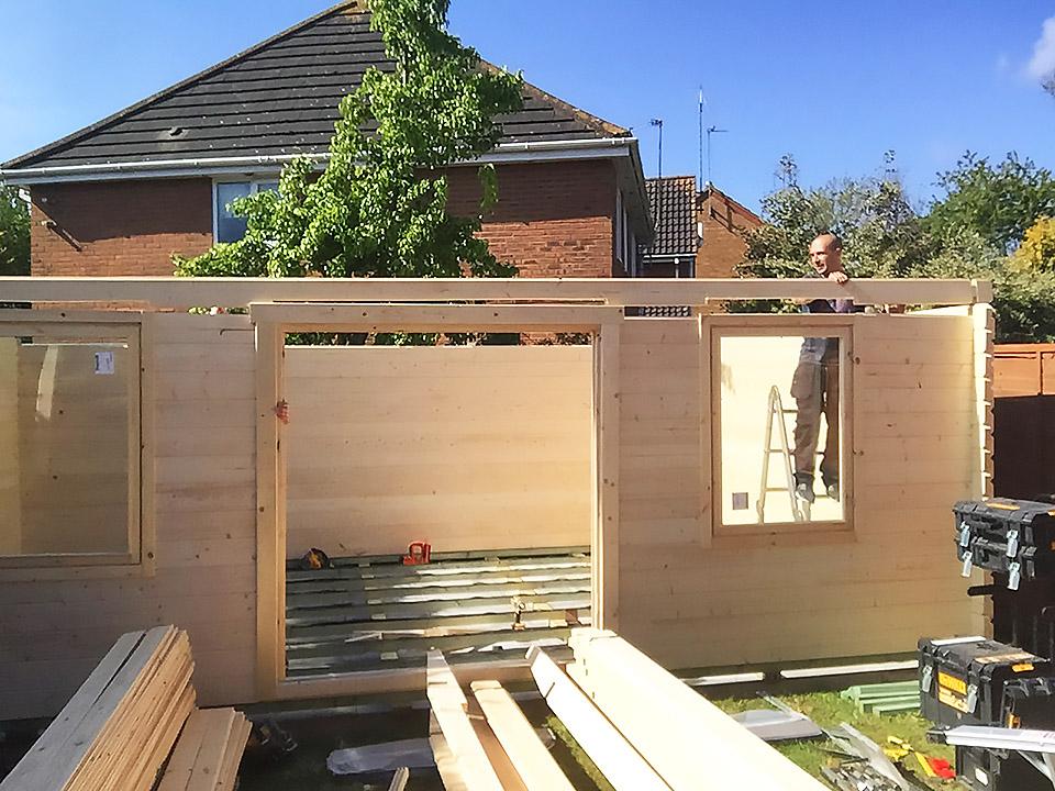 Log Cabin Install 1