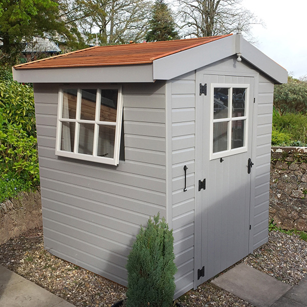 The Malvern Lincomb shed, featuring Georgian windows as standard.