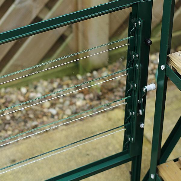 Castle Tutbury Lean-To Greenhouse
