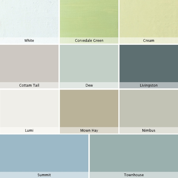 Fort Painted Finish Colour Chart