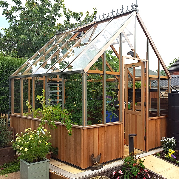 Alton Cheltenham Half Boarded Victorian Greenhouse