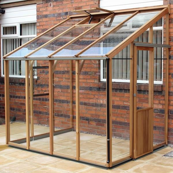 Alton Evolution FOUR-LT Lean-to Cedar Greenhouse