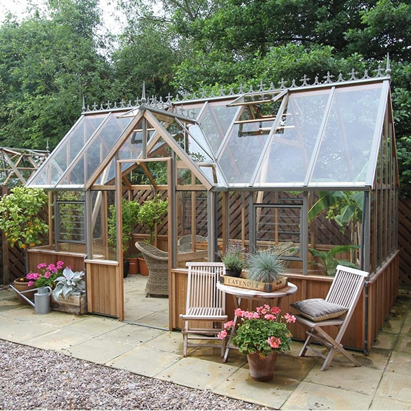 Alton Cambridge Half Boarded Victorian Greenhouse