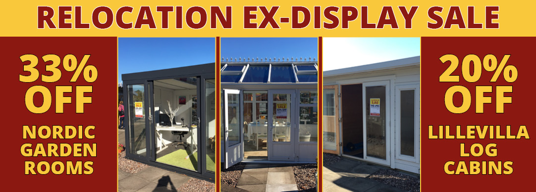 Relocation sale NOW ON! Up to 62% OFF garden buildings!