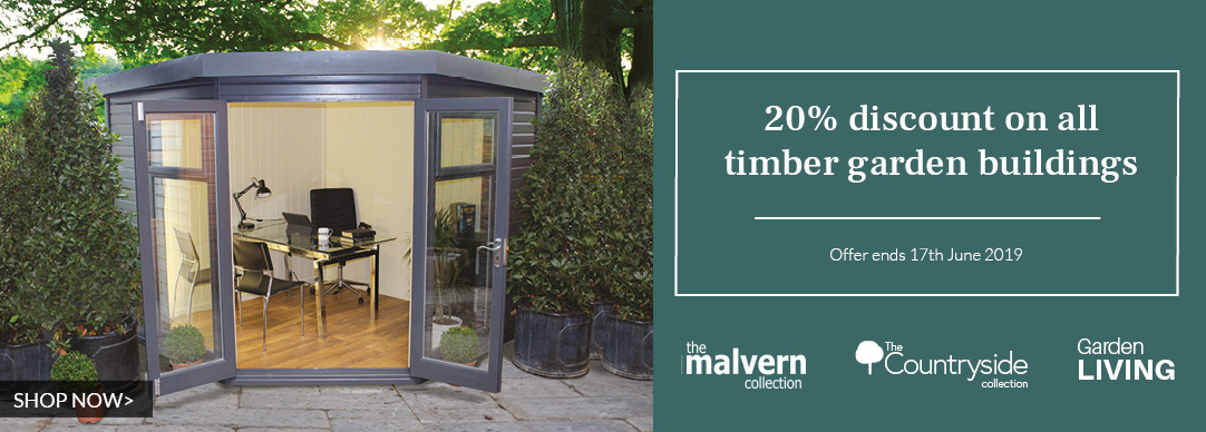 20% OFF all timber garden buildings!