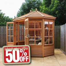 50% OFF prices Alton Cedar Summerhouses