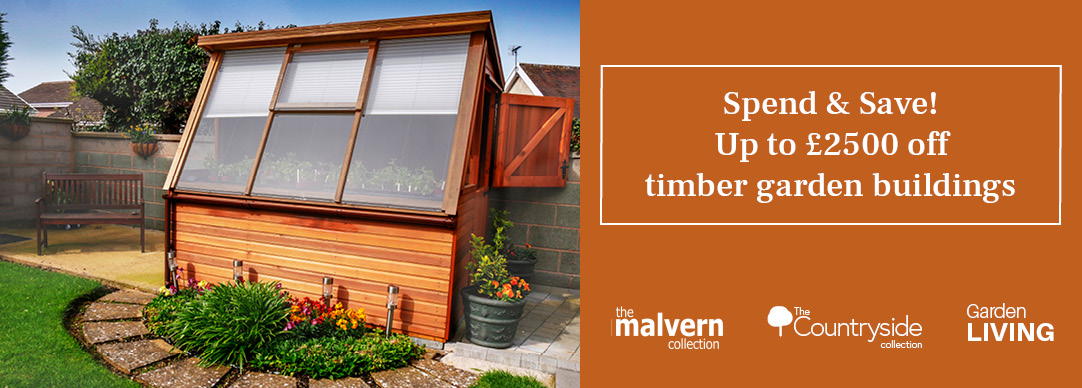 Spend and Save - Up to £2500 off timber garden buildings | GBC Buildings for Leisure