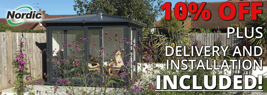 10% OFF Nordic Garden Buildings