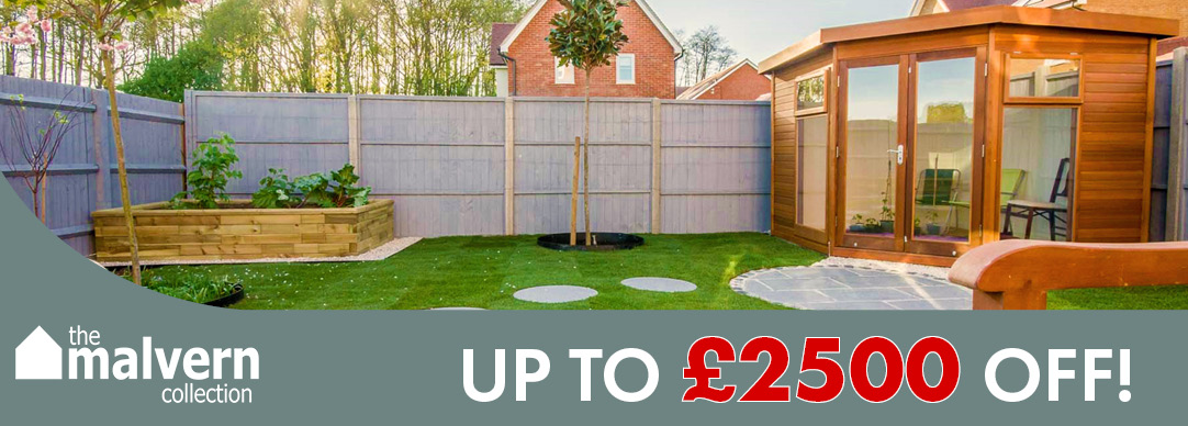 SAVE UP TO £2500 ON MALVERN GARDEN BUILDINGS