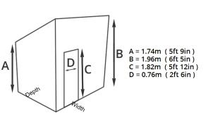 Fort Denbury pent dimensions