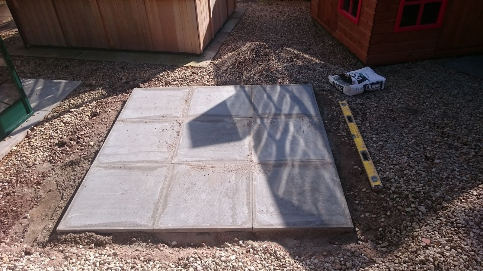 shed base completed