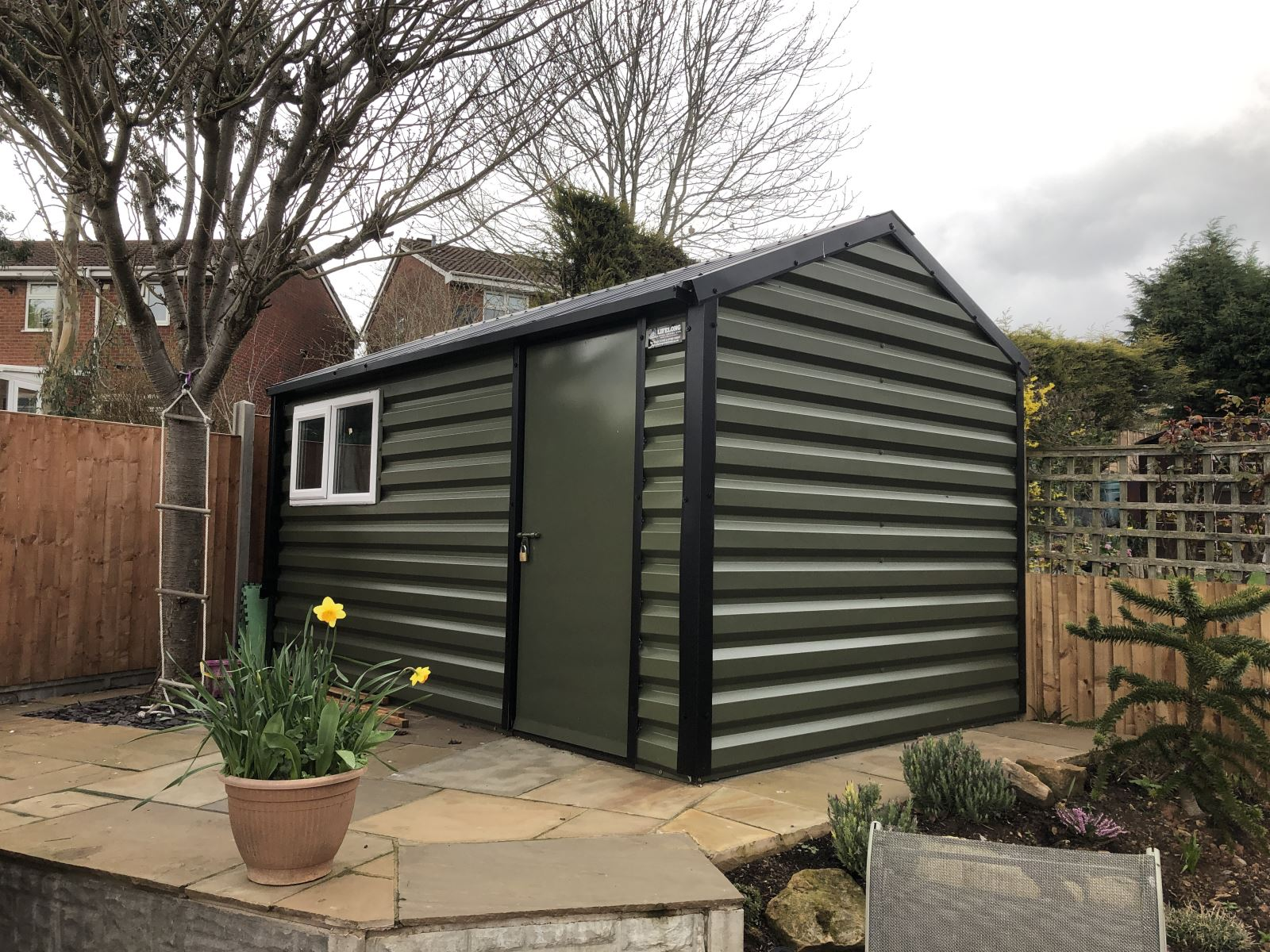 Lifelong Apex Steel Shed