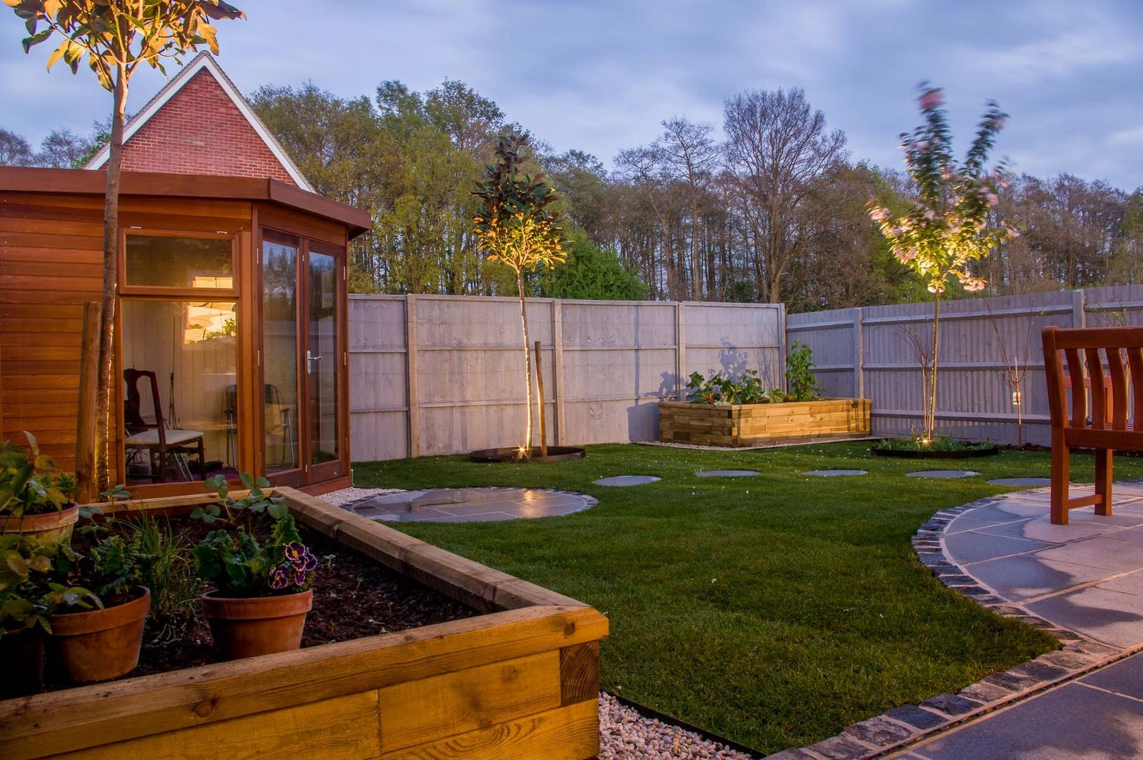Malvern Corner Studio in a garden setting