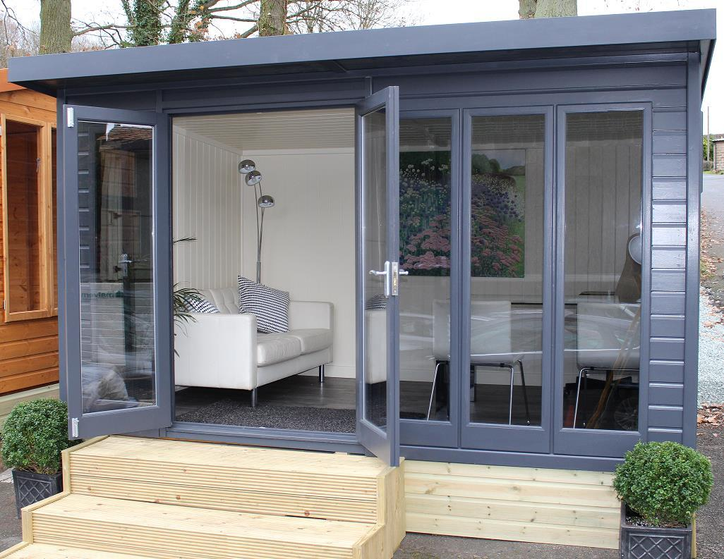 The Malvern Studio Pent: A Contemporary Styled Garden Office.