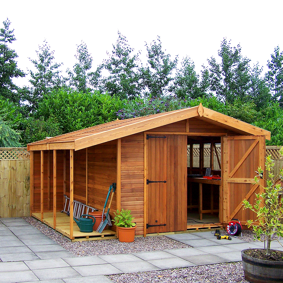 Stanford shed with cedar shiplap cladding