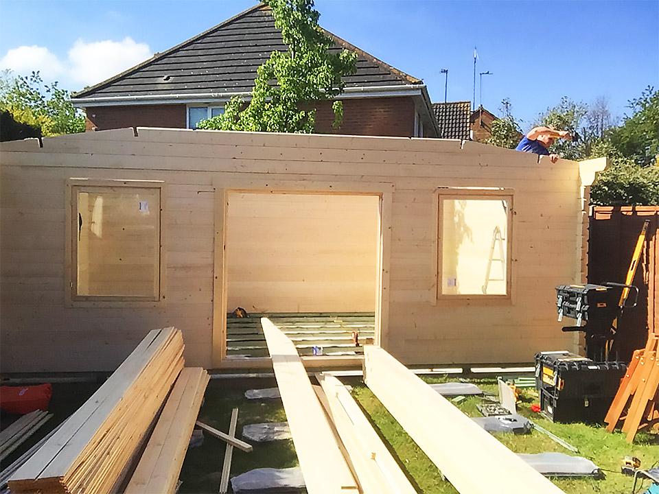 Log Cabin Install 2