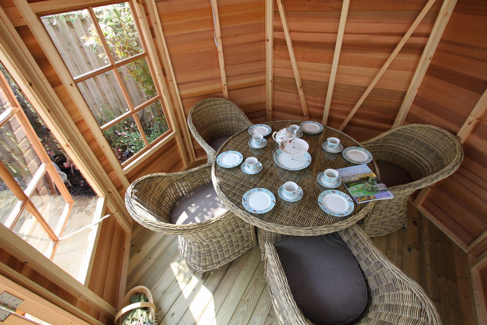 Stylish interior of an Alton Summerhouse!