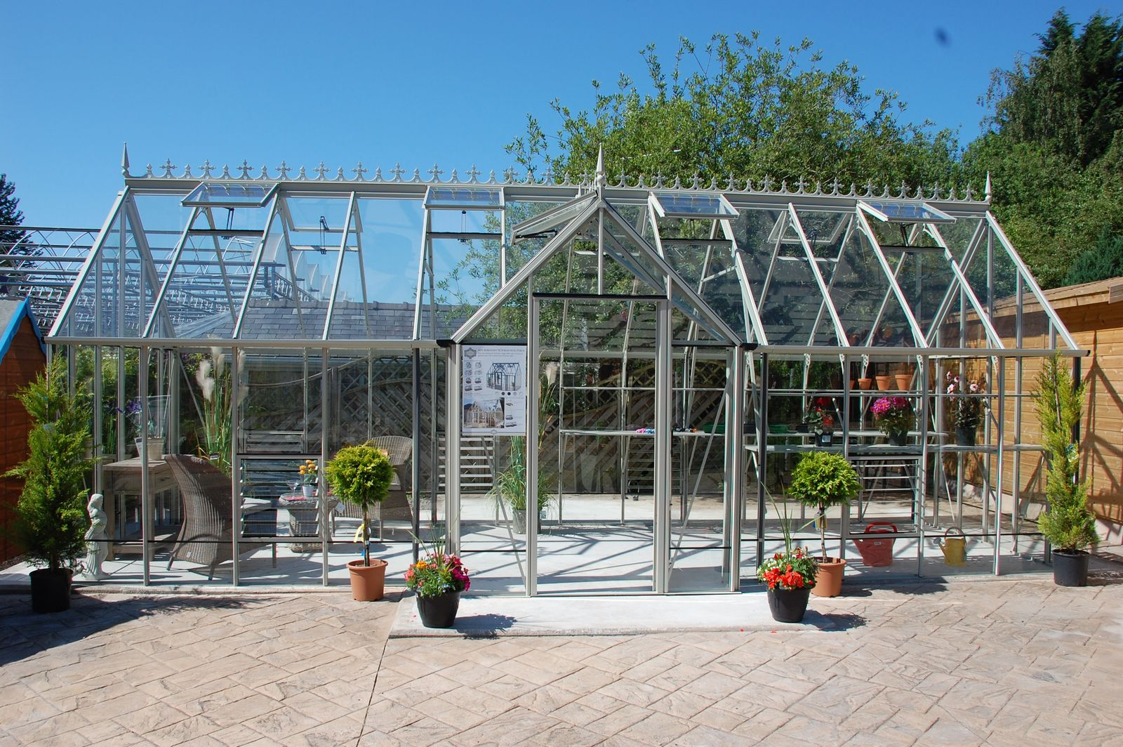 Robinsons Radley greenhouse on display at Wilmslow display centre