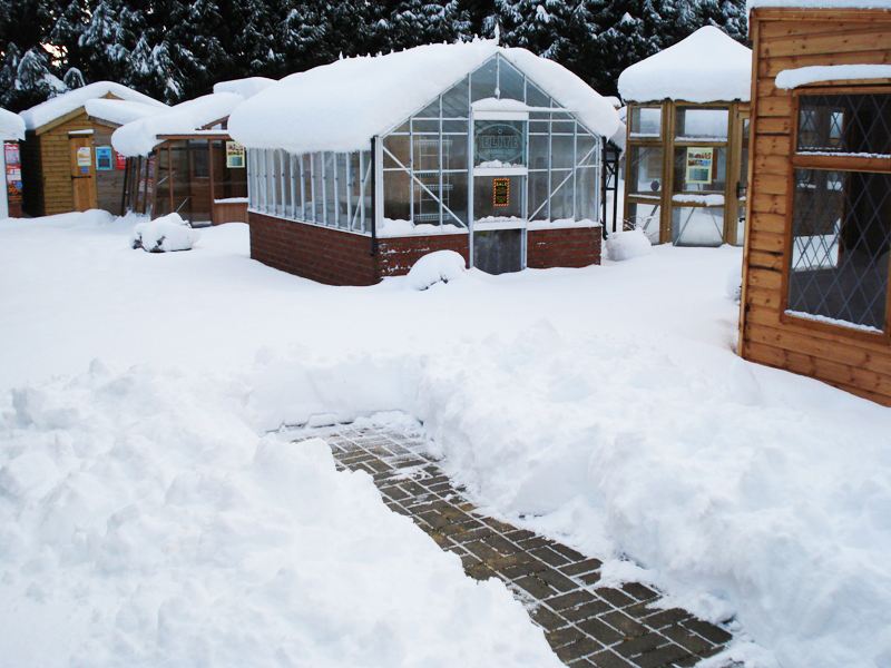 A snowy scene at one of our display centres!