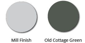 Aluminium finish options
