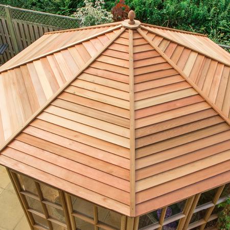 Cedar slatted roof