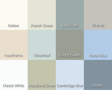 Fort Premium colour chart