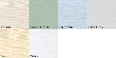 Garden room garaclad colour options