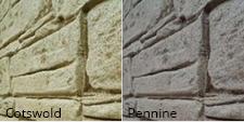 Garden room stone effect options
